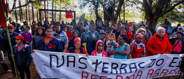 Integrantes do MST ocuparam fazenda que pertence à empresa de Eike Batista  (Foto: MST)