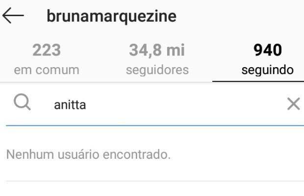 Bruna Marquezine dá unfollow em Anitta (Foto: Reprodução Instagram)