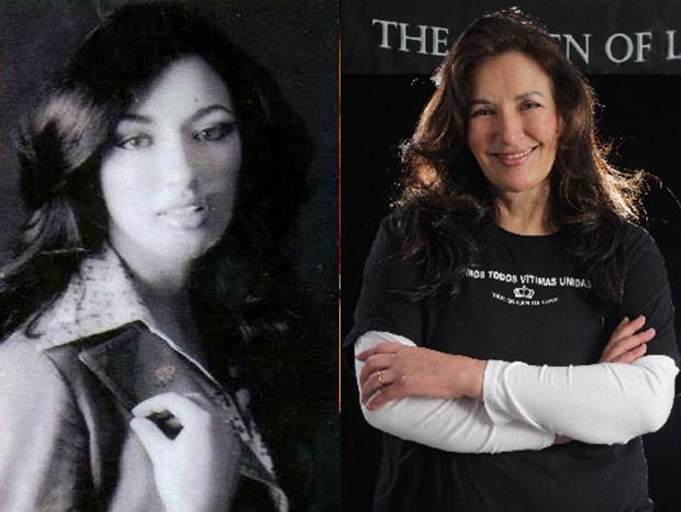 Vana Lopes na juventude e hoje, aos 56 anos (Foto: Arquivo pessoal)