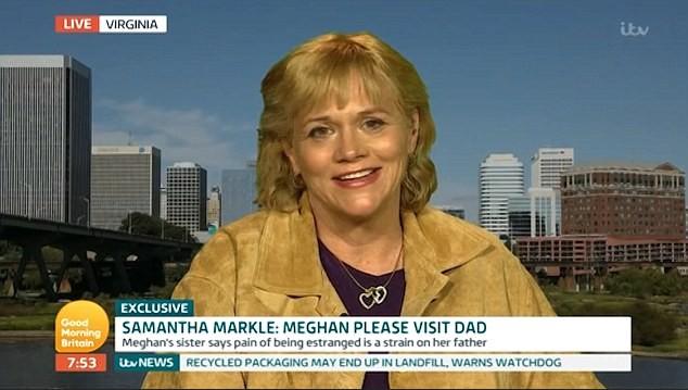 Samantha Markle em participação no 'Good Morning Britain' (Foto: Reprodução)