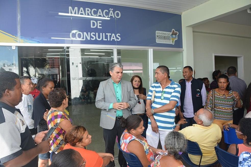 A Promotoria do Idoso fez uma vistoria no Centro de Especialidades Médicas, no bairro do Vinhais. (Foto: Ministério Público do Maranhão)