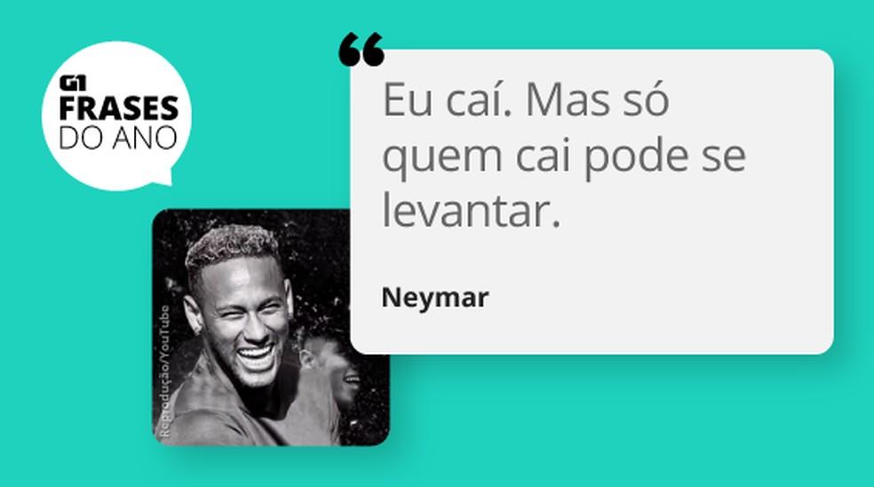 Frase do ano Neymar — Foto: Infografia: Claudia Peixoto/Editoria de Arte G1