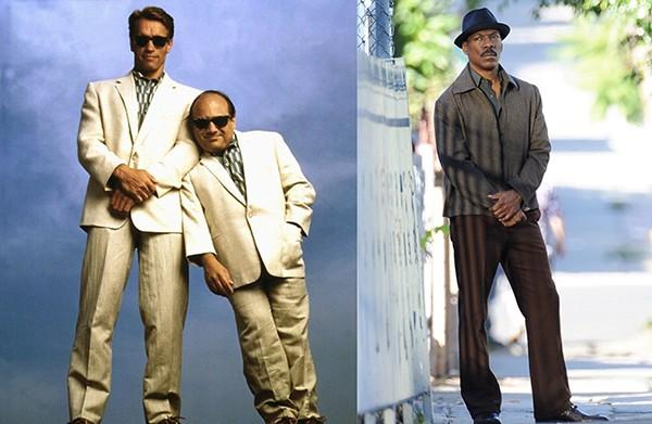 Arnold Schwarzenegger e Danny DeVito em Irmãos Gêmeos (1988) / Eddie Murphy em Mr. Church (2016) (Foto: Divulgação)
