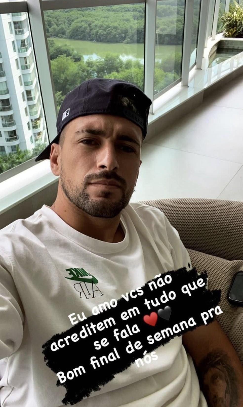 Arrascaeta mandou recado para torcida do Flamengo — Foto: Reprdoução