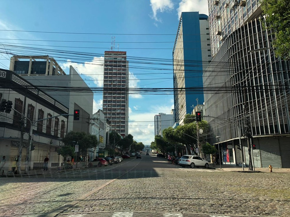 Centro de Manaus permanece fechado. — Foto: Rebeca Beatriz/G1 AM