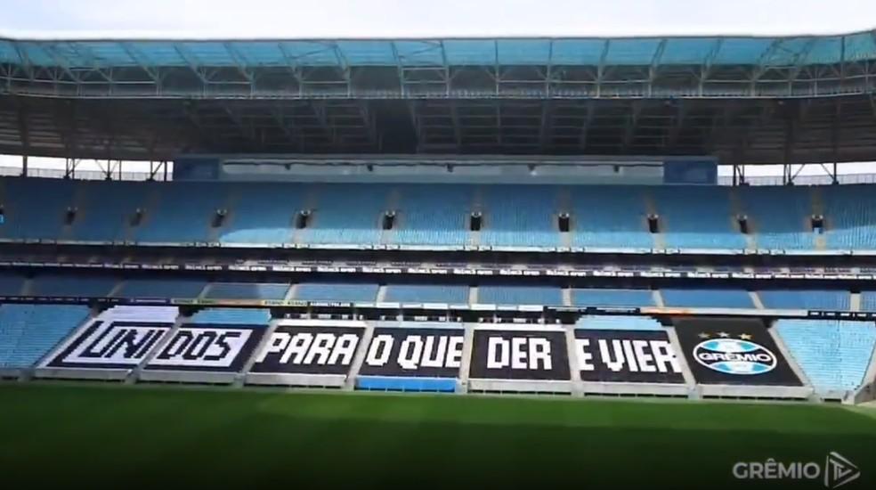 Moisaco que estará na Arena em Grêmio x Novo Hamburgo — Foto: Reprodução
