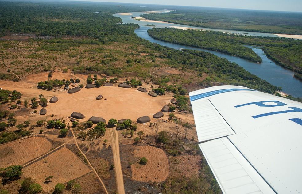 """Foto do francês Olivier Boëls na exposição """"Yawalapiti – Entre tempos"""", sobre tribo que habita Parque Indígena do Xingu (Foto: Olivier Boëls/Divulgação)"""