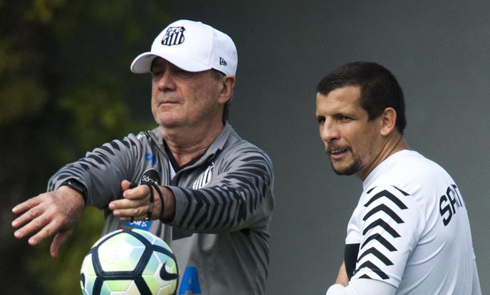Vecchio tem boas chances de sair jogando contra o Barcelona-EQU (Foto: Ivan Storti/Santos FC)