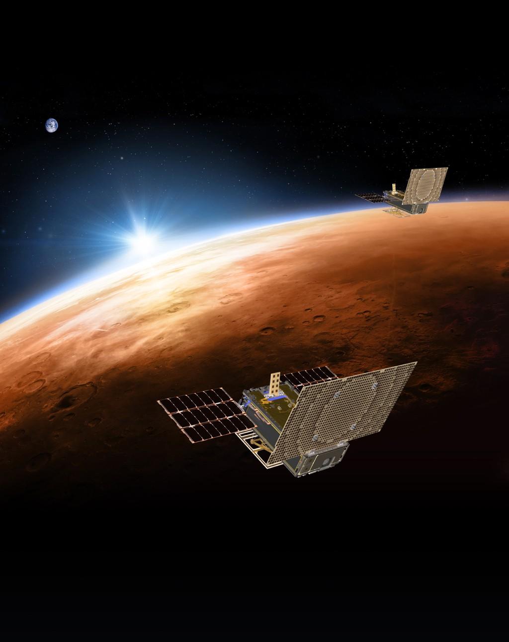 Os satélites faziam parte da missão Mars Cube One (MarCO) (Foto: NASA/JPL-Caltech)