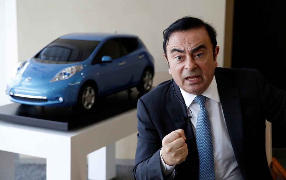 Nascido no Brasil, Carlos Ghosn vai se dedicar mais à Renault e Mitsubishi — Foto: REUTERS/Toru Hanai