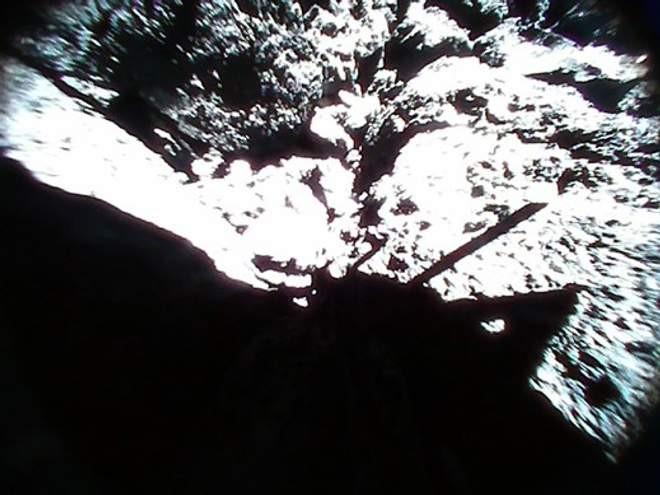 Superfície do asteroide Ryugu (Foto: Divulgação)
