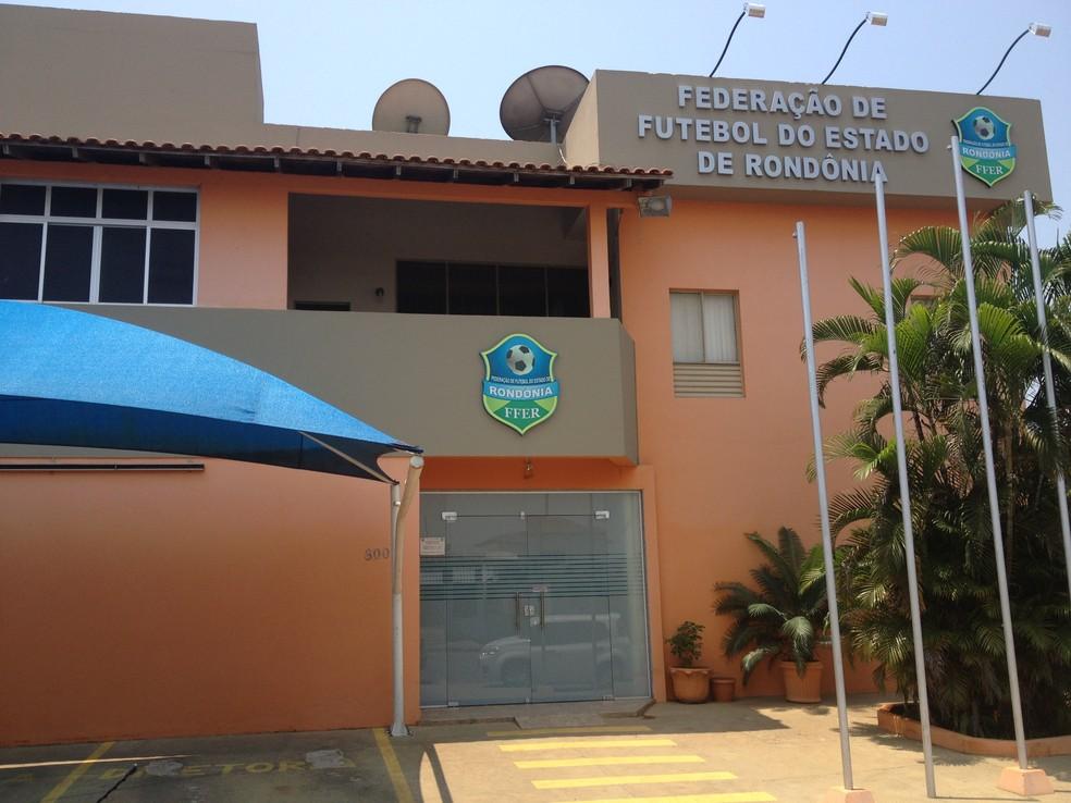 Federação de Futebol de Rondônia — Foto: Renato Pereira