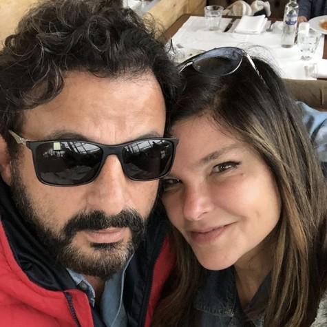 Cristiana Oliveira e o marido (Foto: Arquivo pessoal)