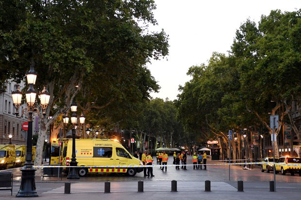 Barcelona sofre ataque terrorista (Foto: Getty Images)