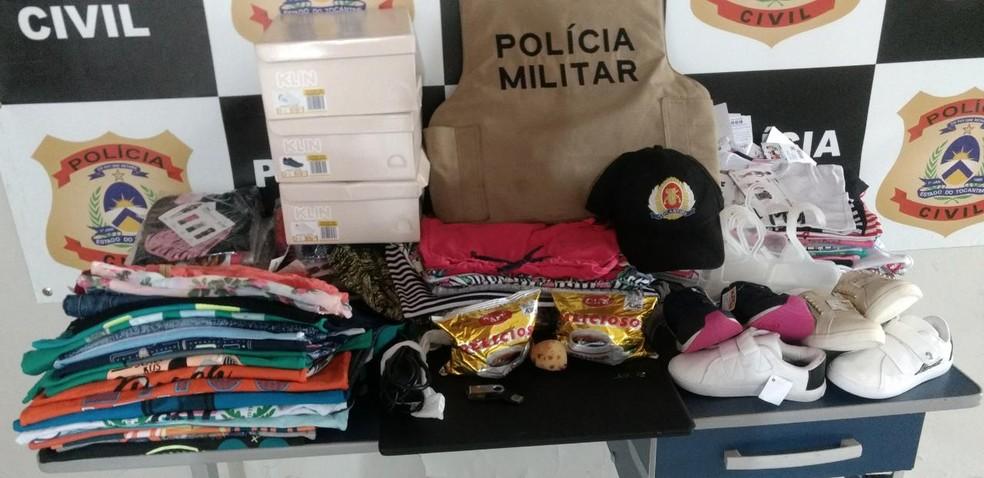 Homem foi preso com objetos furtados em Cristalândia — Foto: Divulgação/PM