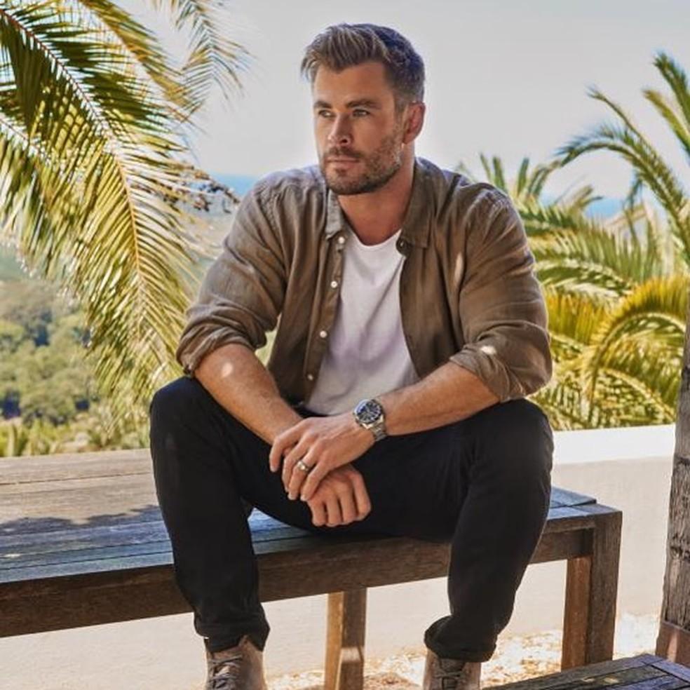 Chris Hemsworth eleito o terceiro homem mais bonito de 2020 — Foto: Reprodução/Instagram