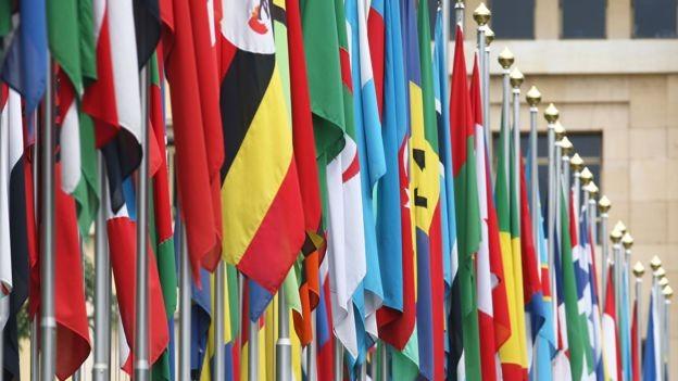 BBC: ONU inclui 193 países que são membros efetivos e dois Estados não-membros - a Santa Sé (área sob a jurisdição do papa) e a Palestina (Foto: Getty Images/BBC)