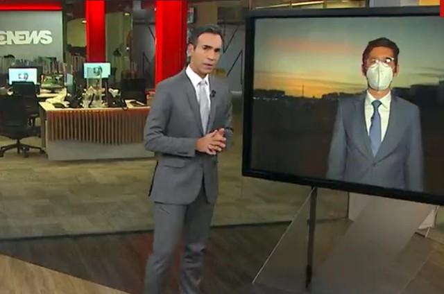 César Tralli e Nilson Klava na GloboNews (Foto: Reprodução)