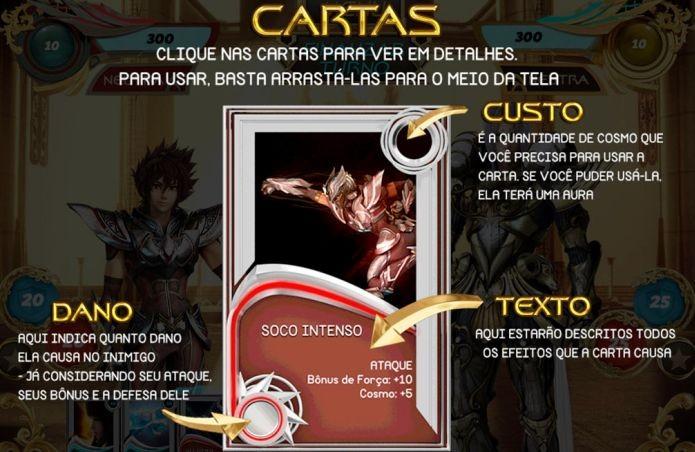 É necessário saber a funcionalidade das cartas para jogar bem Cavaleiros do Zodíaco (Foto: Divulgação)