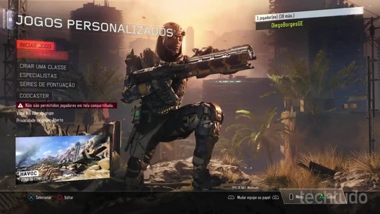 Como personalizar partidas multiplayer em Call of Duty: Black Ops 3