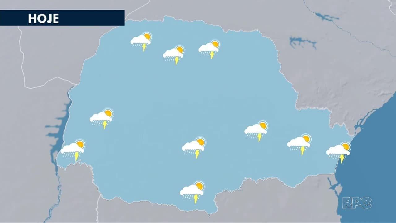 Chuva deve chegar a todas as regiões do estado nesta quarta-feira