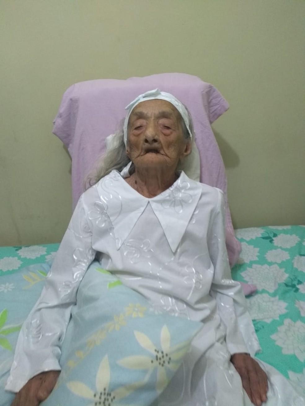 Idosa cearense é uma das pessoas mais velhas do mundo — Foto: Arquivo Pessoal
