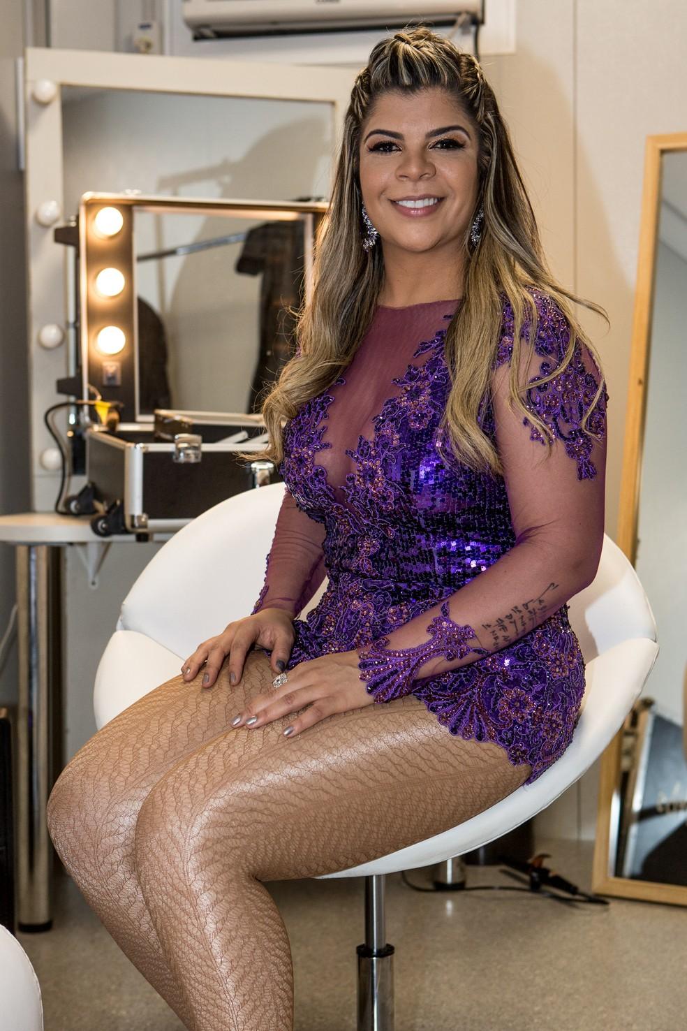 Paula Mattos usou a roupa escolhida pelo público do Gshow na enquete do site. Linda! (Foto: Fábio Rocha/Gshow)