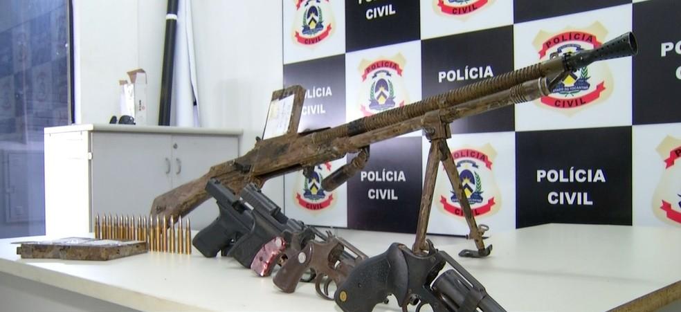 Mais de 300 armas são apreendidas no Tocantins — Foto: Reprodução/TV Anhanguera