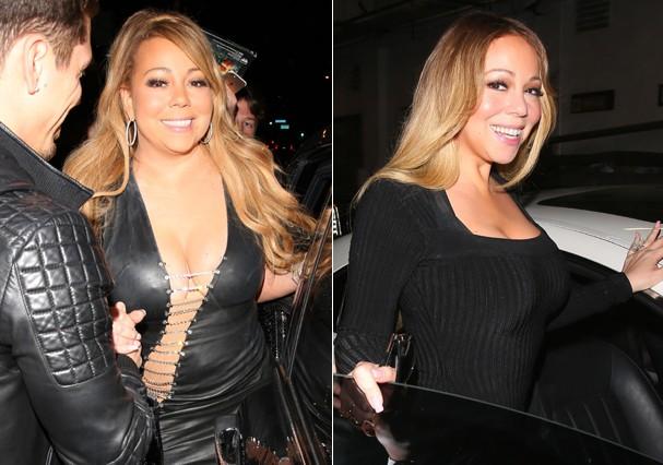 Mariah em setembro de 2017 e agora, em abril de 2018 (Foto: Backgrid)