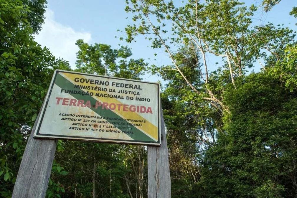 Terra Indígena — Foto: Portal Amazônia/Reprodução