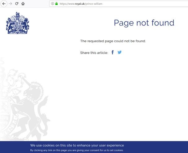 Site da família real britânica (Foto: Reprodução)