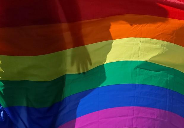 LGBT - bandeira - movimento - gay - luta - união homoafetiva (Foto: Gleb Garanich/Reuters)