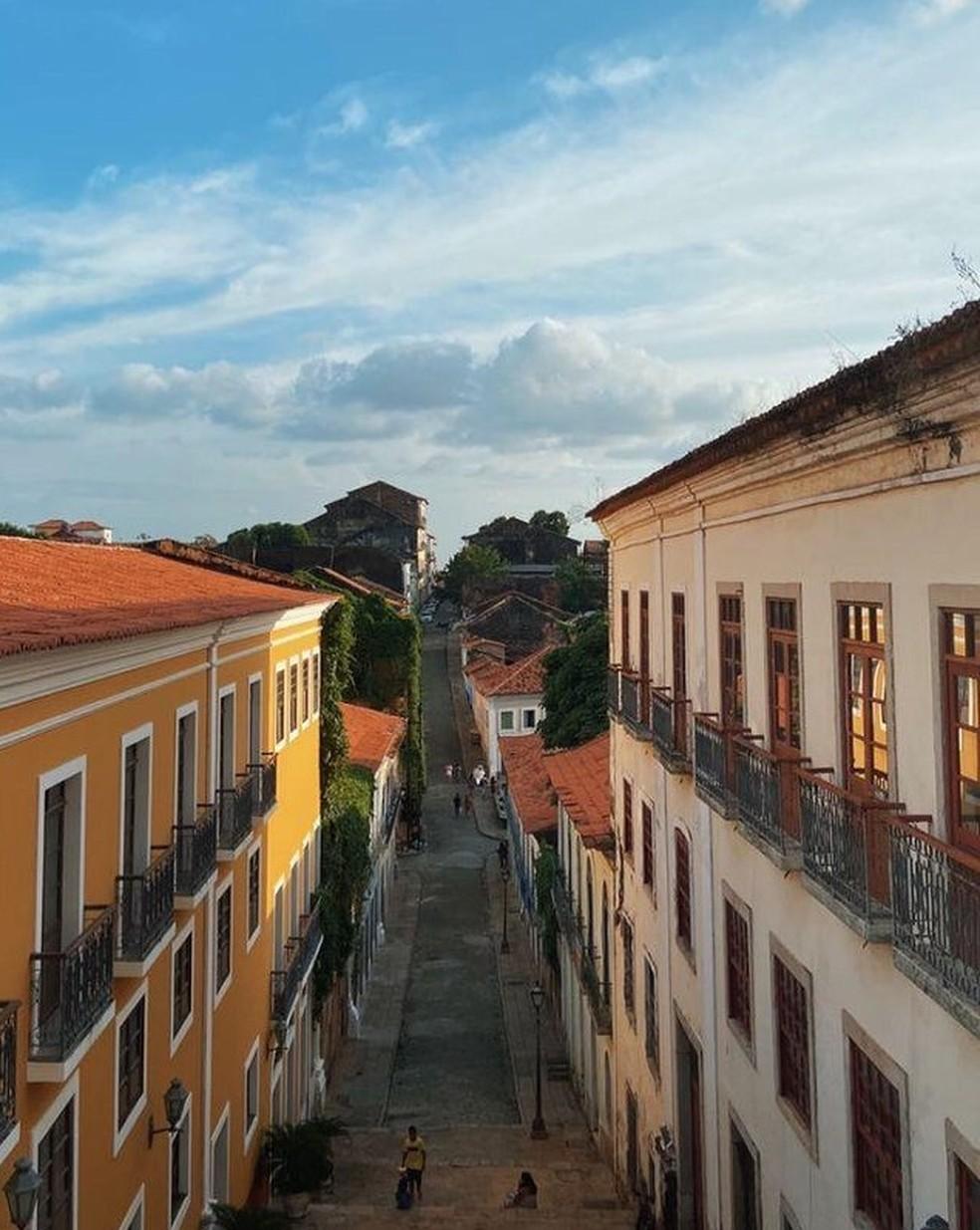Rua do Giz, em São Luís, é eleita uma das mais bonitas do país — Foto: Rafaelle Fróes/G1 MA