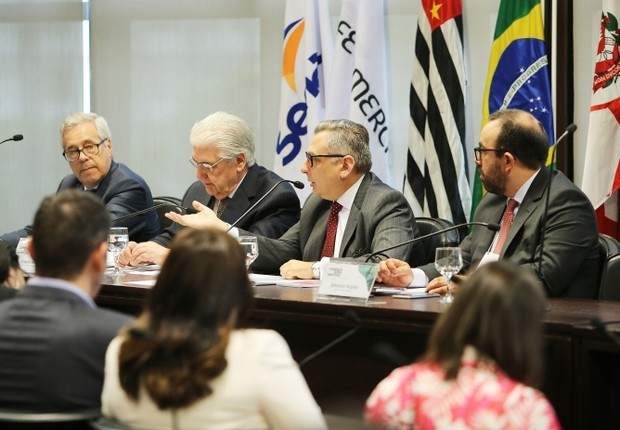Representantes se reuniram na Federação do Comércio de Bens, Serviços e Turismo do Estado de São Paulo (FecomercioSP), na capital paulista (Foto: Divulgação;)