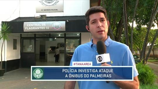Apedrejamento de ônibus do Palmeiras vira caso de polícia