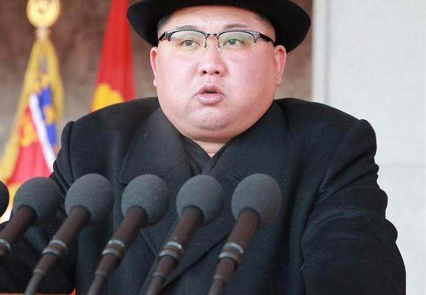 Kim Jong-un, líder da Coreia do Norte (Foto: EFE/EPA/KCNA)