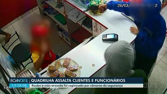 Quadrilha assalta clientes e funcionários em posto de combustível em Telêmaco Borba