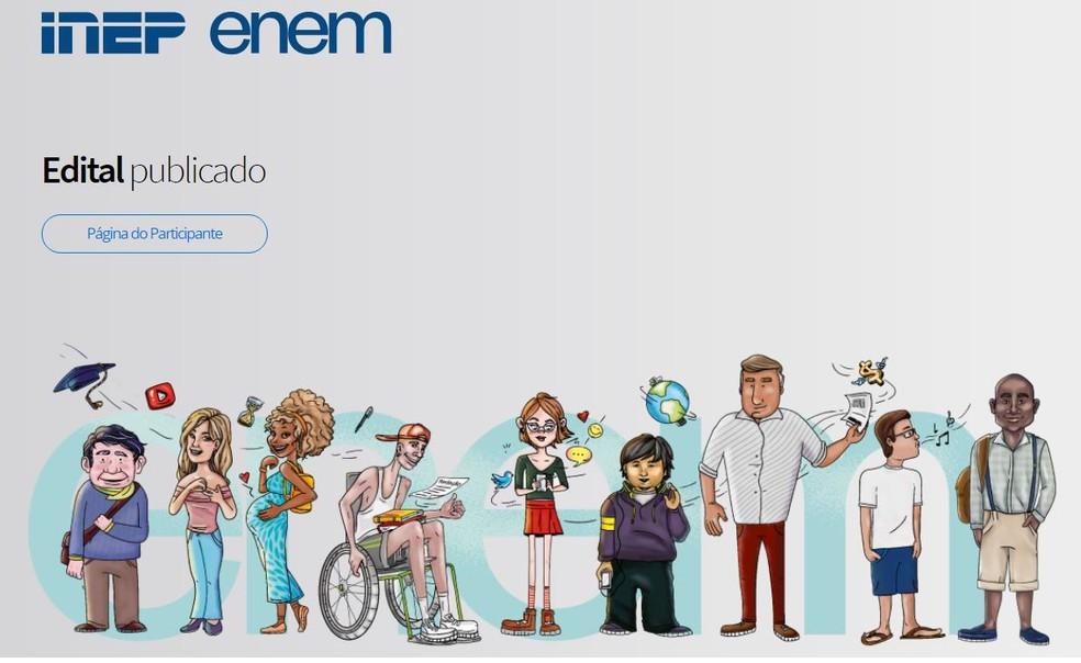 Edital do Enem está disponível para consulta; taxa de inscrição é de R$ 85. — Foto: Reprodução