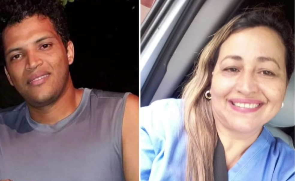 Jeferson Alves da Costa e Angela Marques morreram por complicações da Covid-19, em Londrina — Foto: Reprodução/RPC