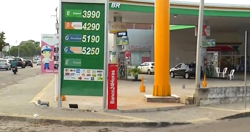 Preço do litro da gasolina passa dos R$ 5 em Natal. — Foto: Reprodução/Inter TV Cabugi