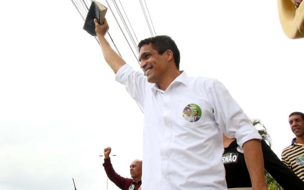 O deputado Cabo Daciolo, que concorreu à Presidência pelo Patriota — Foto: Betinho Casas Novas/Futura Press/Estadão Conteúdo