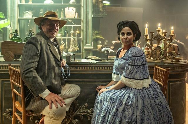 Ernani Moraes e Paula Cohen em 'Nos tempos do Imperador' (Foto: Fabio Rocha/Globo)