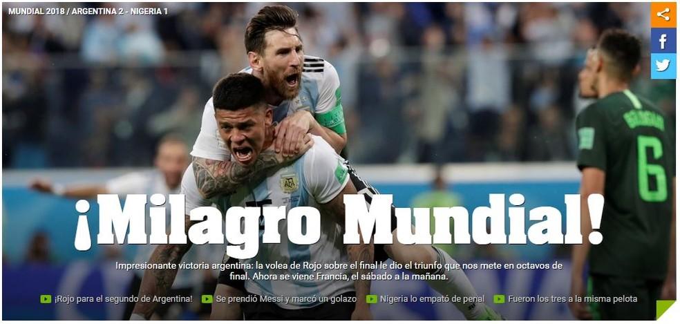 Olé Argentina x Nigéria (Foto: Reprodução)