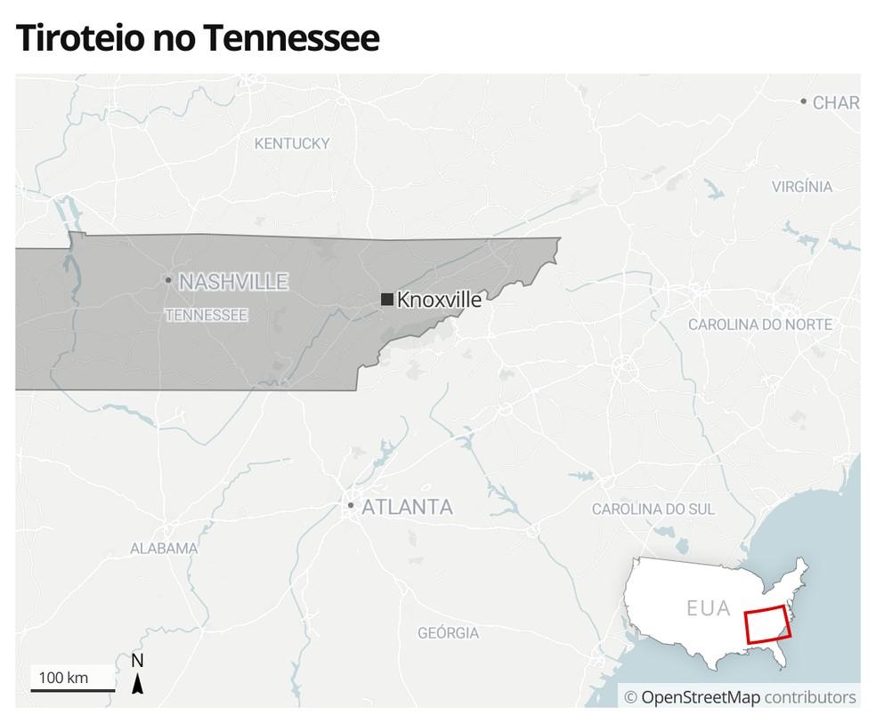 Tiroteio no Tennessee — Foto: G1 Mundo