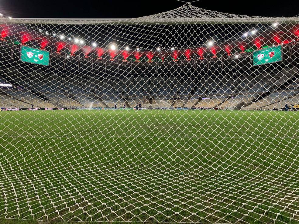 Fluminense x Flamengo pela final da Taça Rio 2020 — Foto: André Durão