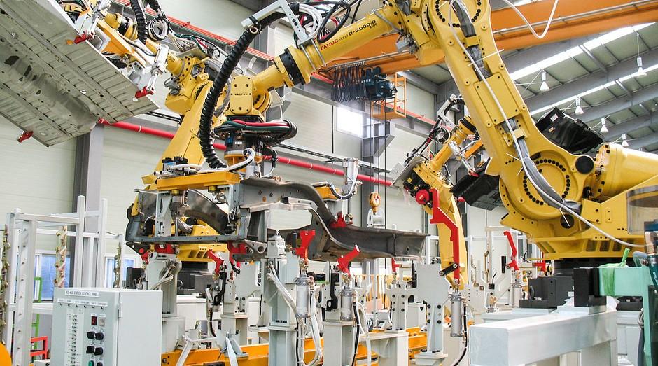 manufatura, máquina, indústria (Foto: Wikimedia Commons)