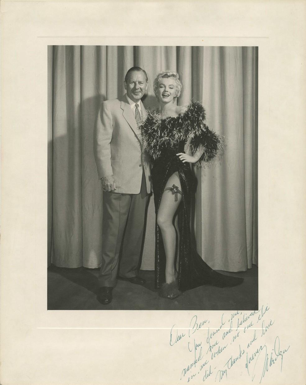 -  Fotografia foi tirada em 1955 durante as filmagens de   39;O Pecado Mora ao Lado  39;  Foto: Cortesia/Profiles in History