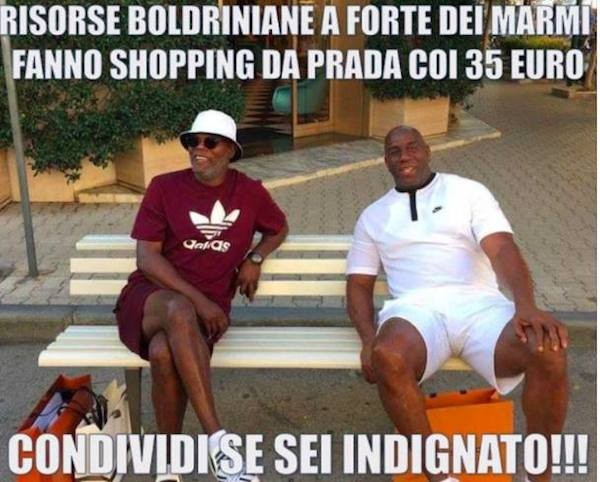 O meme no qual Samuel L. Jackson e Magic Johnson são confundidos com imigrantes (Foto: Facebook)