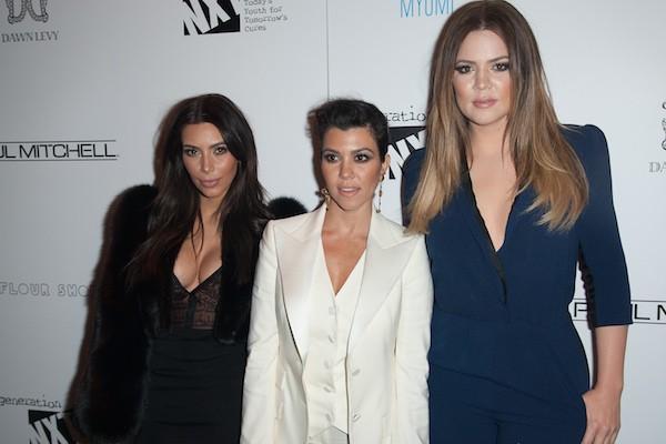 As irmãs Kim Kardashian, Khloé Kardashian e Kourtney Kardashian (Foto: Getty Images)