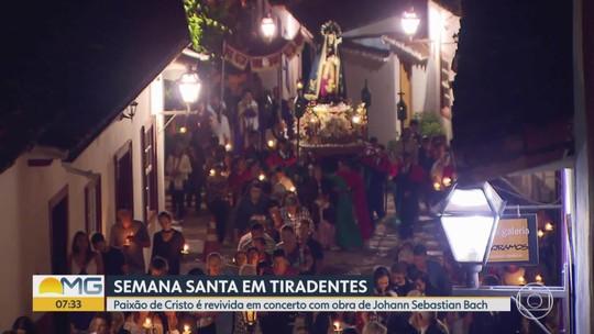 Paixão de Cristo é revivida em concerto com obra de Johann Sebastian Bach em Tiradentes